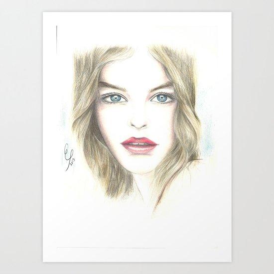 a beautiful woman Art Print