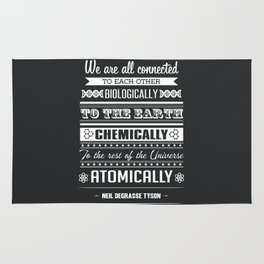 We Are All Connected (Black) Rug