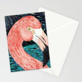 Starry Flamingo Stationery Cards