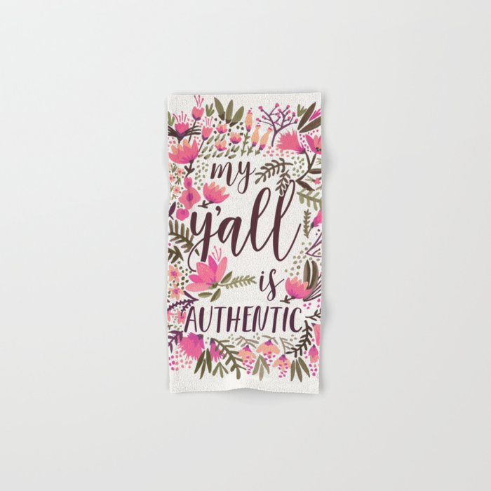 My Y'all is Authentic – Vintage Palette Hand & Bath Towel