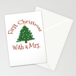 First Christmas with a Mrs 1st Married Xmas Husband Stationery Cards