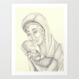 Blessed Mother and Holy Baby Art Print