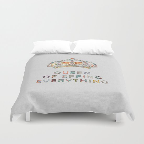 her daily motivation Duvet Cover
