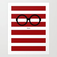 waldo Art Prints featuring Where's Waldo by AKilpatrickDesign