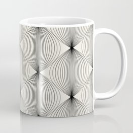 Geometric Orb Pattern - Black Coffee Mug