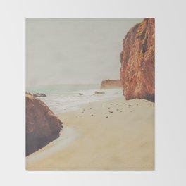 Beach Day - Ocean, Coast - Landscape Nature Photography Throw Blanket