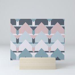 Scandi Waves #society6 #scandi #pattern Mini Art Print