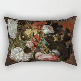 "Jacob Marrel ""Flowers in a glass vase"" Rectangular Pillow"