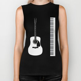 Guitar Piano Duo Biker Tank