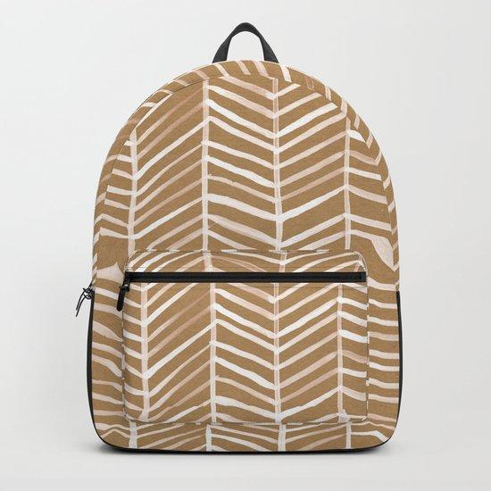 Kraft Herringbone Backpack