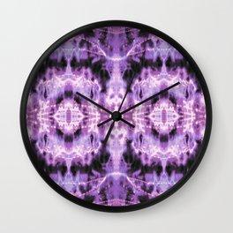 Celestial Nouveau Tie-Dye Plum Wall Clock