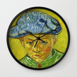 Portrait of Camille Roulin, by Vincent van Gogh Wall Clock
