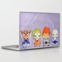 thundercats Laptop & iPad Skins featuring A Boy - A Girl - Thundercats by Christophe Chiozzi