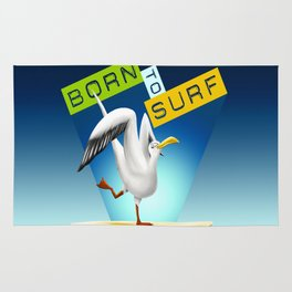 BORN to SURF Rug