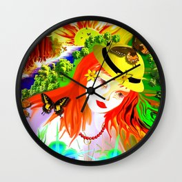 G' Red Heads* Wall Clock