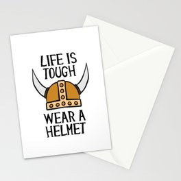 Life Is Tough Wear A Helmet Stationery Cards