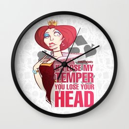 Red Queen - Drawlloween2018 Wall Clock