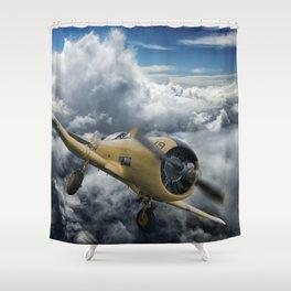 T-6 Texan Shower Curtain