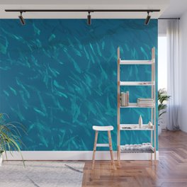 School of fish in the blue Wall Mural