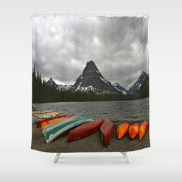Two Medicine Lake With Sinopah Mountain Shower Curtain