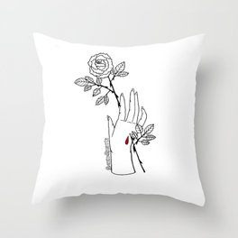 Stigmata Rosa Throw Pillow