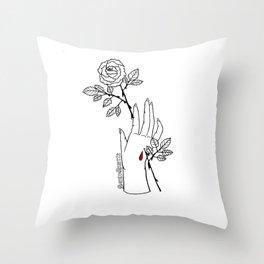 Stigmata Rosa Throw Pillow