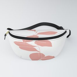 One line plant drawing - Berry Pink Fanny Pack
