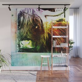 Colorful cow Wall Mural