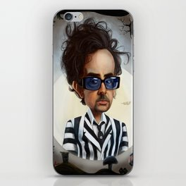 tim burton iPhone Skin