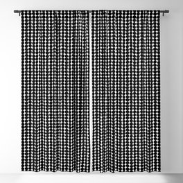 Midcentury Modern Dots Black and White Blackout Curtain