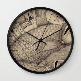 The Golden Fish (1) Wall Clock