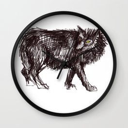 In Every Story the Wolf Comes At Last Wall Clock