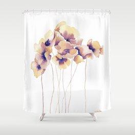 Violet Poppies Shower Curtain