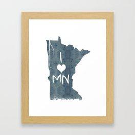 I LOVE MN Framed Art Print