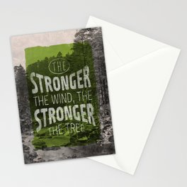 The stronger the tree Stationery Cards