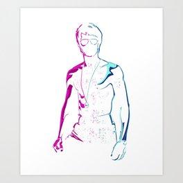 Be Water My Friend Cool Popular Pink Blue Style Unisex Best Gift T-Shirt & Merchandise Art Print