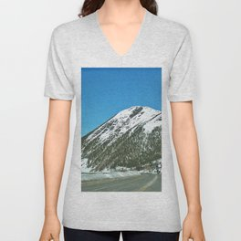 Mont-Saint-Pierre in Winter Unisex V-Neck