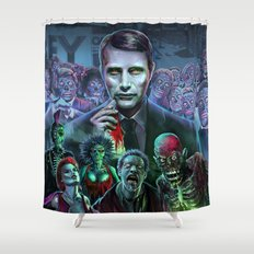 Hannibal Holocaust - They Live Return of the Living Dead Mads Mikkelsen Shower Curtain