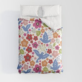 Fly with flowers Comforters