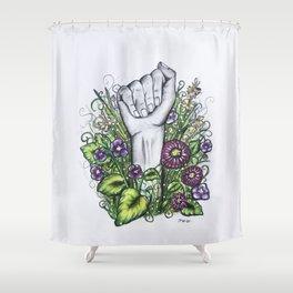 """""""A"""" ASL alphabet series Shower Curtain"""