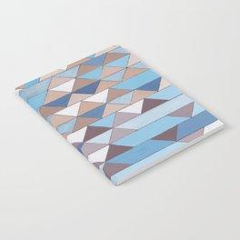 Triangle Pattern No.6 Crisp Blue Notebook
