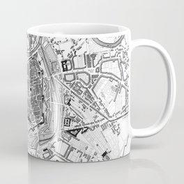 Vintage Map of Vienna Austria (1833) BW Coffee Mug
