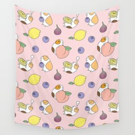 Guinea pig and fruits pattern Wall Tapestry