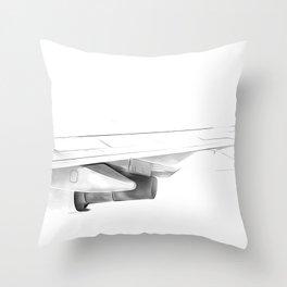 Black and white airplane Throw Pillow