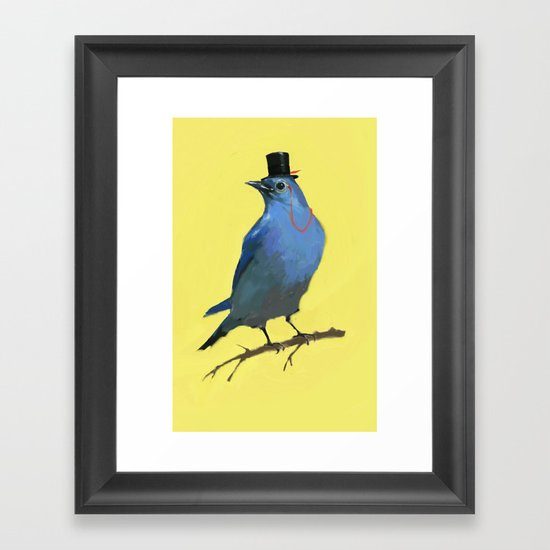 A Dapper Bluebird Framed Art Print
