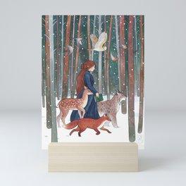 Through the Forest Mini Art Print