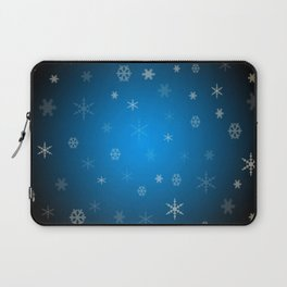 Blue christmas snowflakes Laptop Sleeve