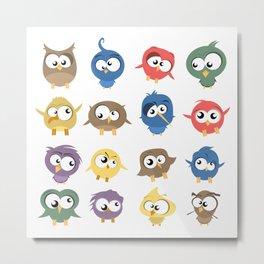 Ugly Birds Metal Print