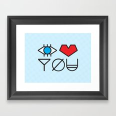 EYE HEART YOU Framed Art Print