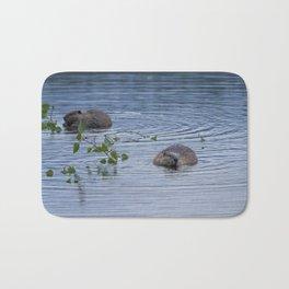 Beavers at Breakfast Bath Mat